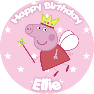 Peppa Pig Fairy Circle Cake Topper