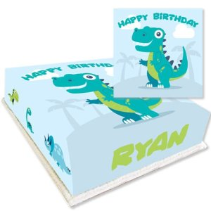 Personalised Dinosaur Birthday Cake
