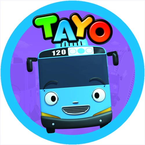 Tayo The Little Bus Edible Icing Photo Cake Topper