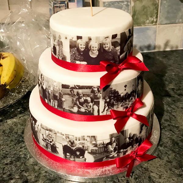 edible photo ribbon for cake edging