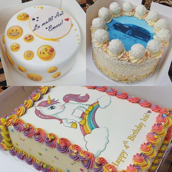 Family bakery photo cakes using eatyourphoto