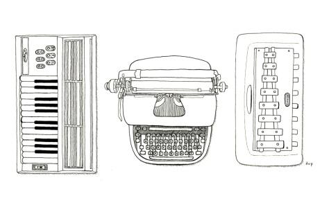 Stew: Chord Organ, Typewriter, Glockenspiel fine art print