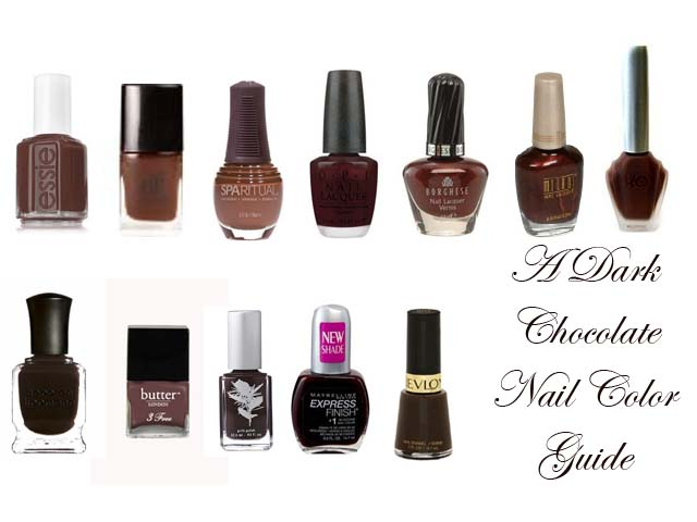 A 2010 Dark Chocolate Brown Nail Color Guide Eaumg