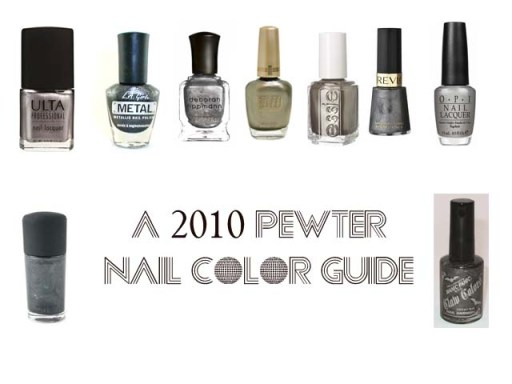 2010 Fall Pewter Nail Color
