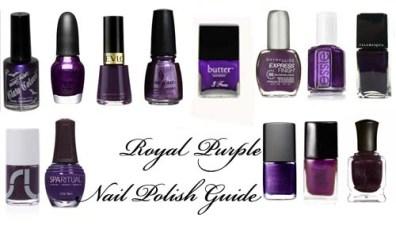 Royal Purple Nail Polish Guide