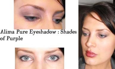 Alima Pure Eyeshadows in purple shades