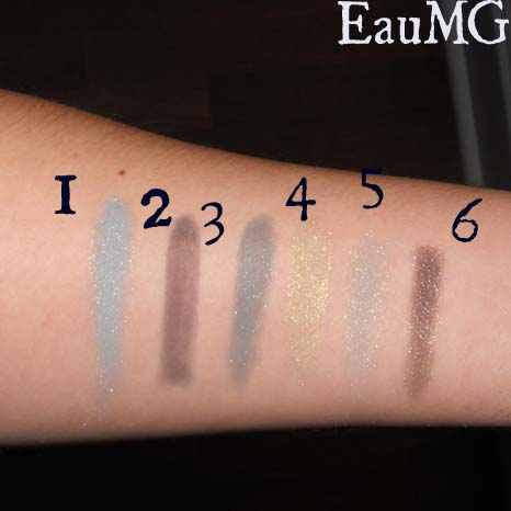 Everyday Minerals Mineral Eyeshadow swatches