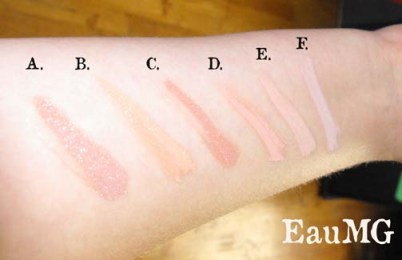 Everyday Minerals Mineral Blush swatches