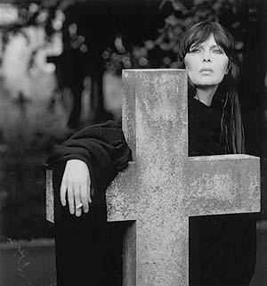 Nico in a cemetery