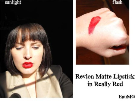 Revlon Really Red Matte Lipstick swatch