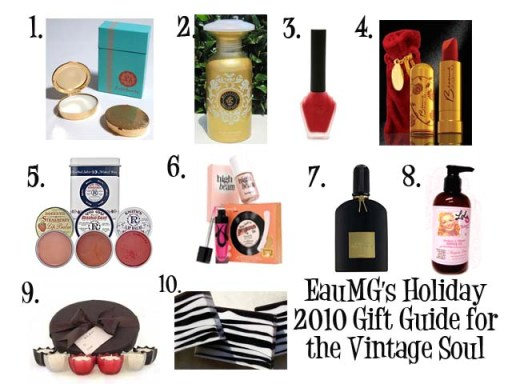 Holiday 2010 Gift Guide for Vintage inspired gals