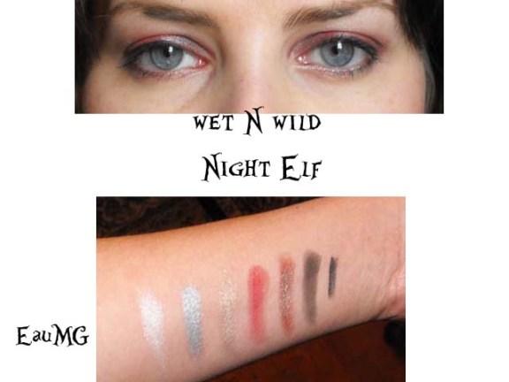 Wet N Wild Night Elf Swatches