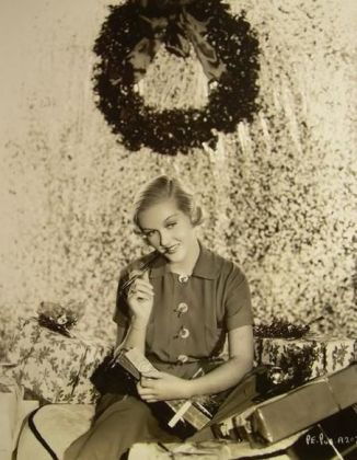 Christmas picture of Patricia Ellis