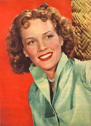 1940's era colored photo of Barbara Britton