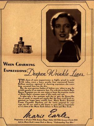 1929 skincare ad