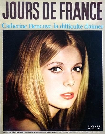 1963 Catharine Deneuve magazine cover