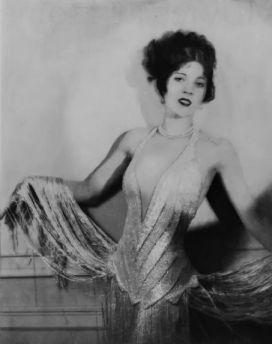 Olive Borden in sequin dress
