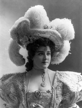 Lillian Russell in hat
