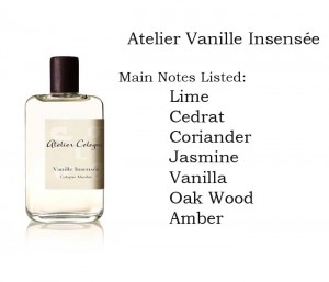 Atelier Vanille Insensee fragrance