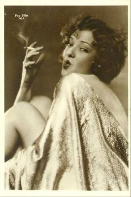Dixie Lee smoking