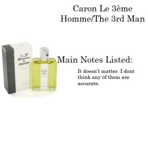 Caron the Third Man Cologne
