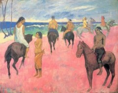Gauguin Riders on the Beach