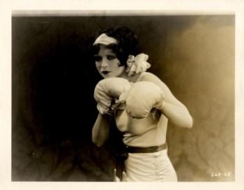 Clara Bow boxing
