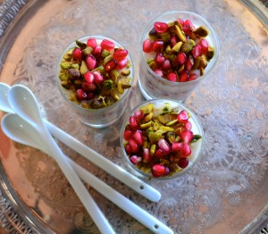 rosewater almond milk pudding