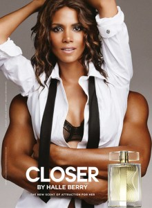 Halle Berry Closer perfume ad