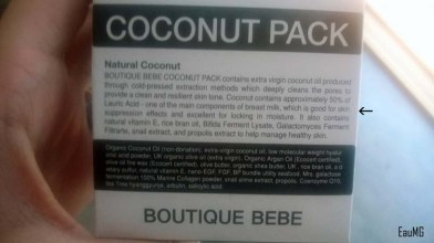 Korean coconut pack