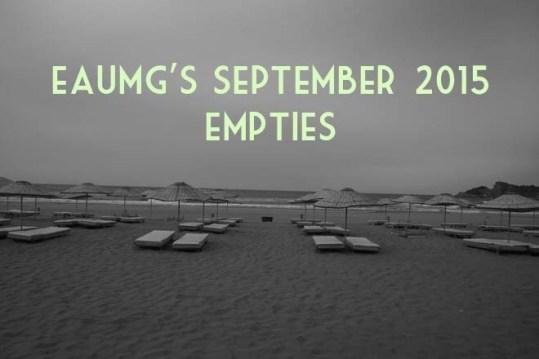 September 2015 Empties