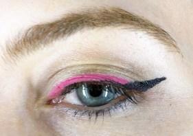 pink and black eyeliner