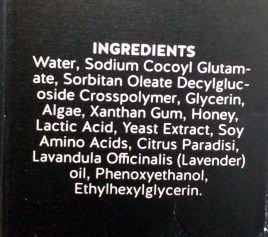 Sase Skincare Ingredients