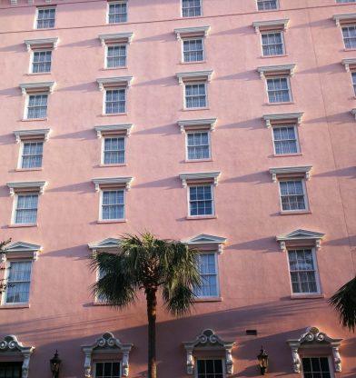pink building Charleston
