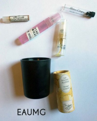 A gust Perfume Empties
