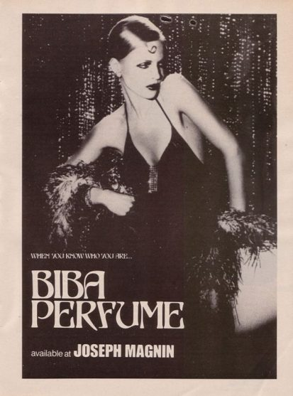 Biba Perfume ad
