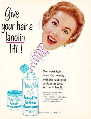 vintage Helene Curtis shampoo ad