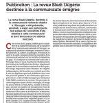 El Watan du 26 July 2009 Revue Bladi l'Algérie