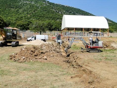 Infrastructure du traitement des eaux usées dans l'enclos des éléphants