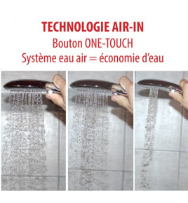 air touch douchette ecologique air in 2 jets eausiris