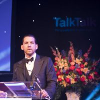 Josh Cote offers speech at 2016 awards gala