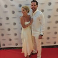 josh cote and wife at marketing event