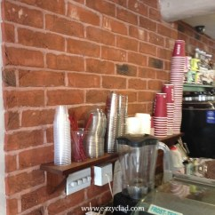 Brick Effect Kitchen Wall Tiles Hanging Utensils In Photos And Door Using Eazyclad Stone Cladding
