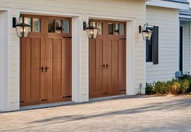 Garage Door Installation Insulated Carriage House Wooden