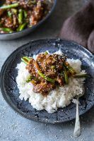 Mongolian Beef a great beef dinner solution with a sweet and sticky sauce
