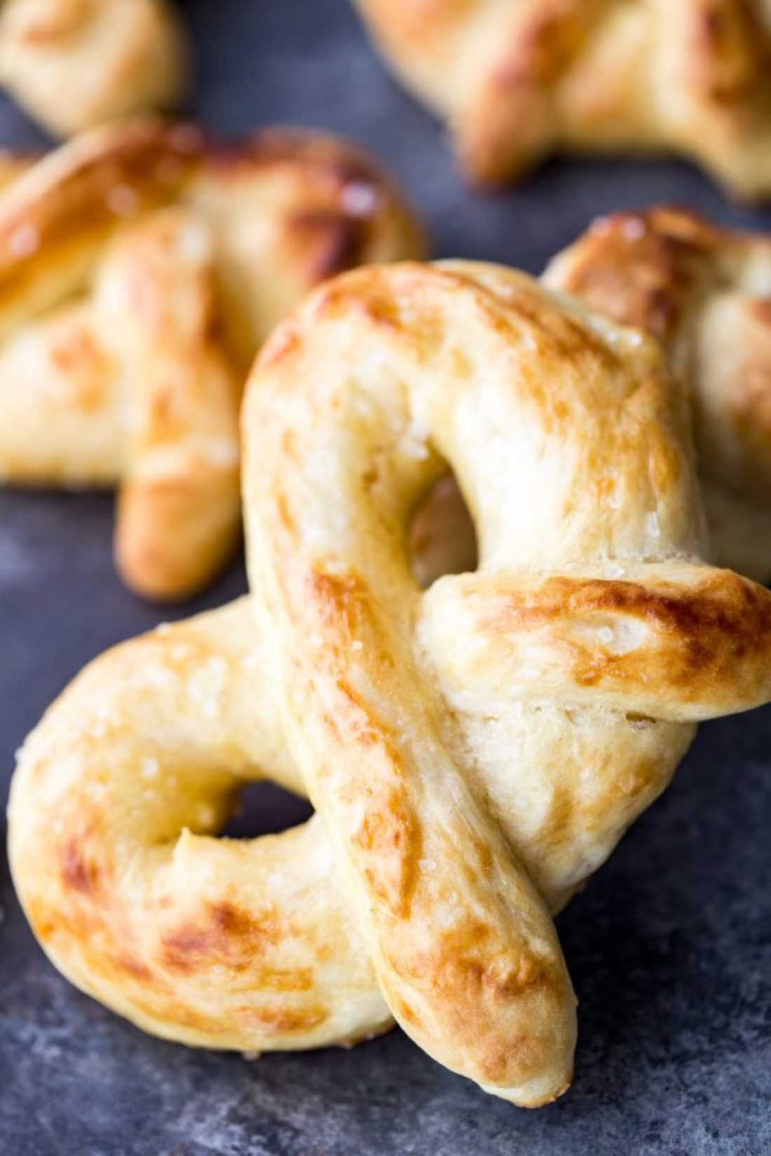 Easy buttery soft pretzels are crispy outside, pillowy inside, and so delicious