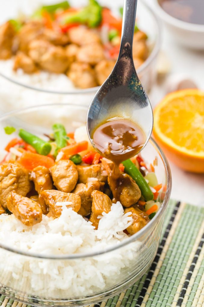 Freezer Teriyaki Chicken Rice Bowl - Easy Peasy Meals