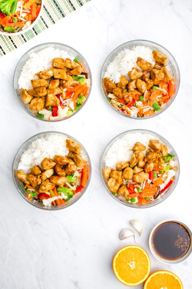Delicious and easy to make freezer friendly chicken teriyaki rice bowls