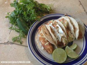 Tilapia fish taco