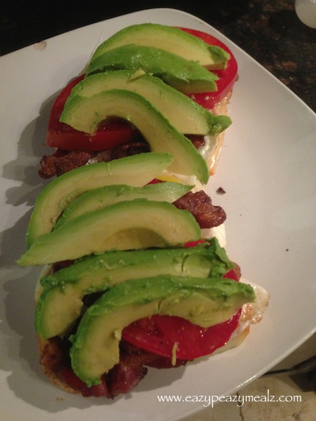 avocado fried egg BLT